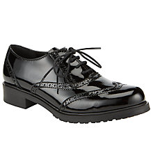 Buy John Lewis Designed for Comfort Secretary Patent Leather Brogues, Black Online at johnlewis.com
