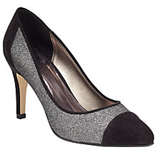 Buy John Lewis Belgravia Toe Pointed Stiletto Court Shoes, Black/Silver Online at johnlewis.com