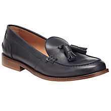 Buy Collection WEEKEND by John Lewis Gael Tassle Leather Loafers, Navy Online at johnlewis.com