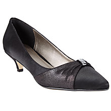 Buy John Lewis Blakemore Kitten Heel Court Shoes, Black Satin Online at johnlewis.com