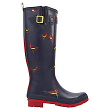 Buy Joules Womens Printed Wellington Boots, Navy Online at johnlewis.com