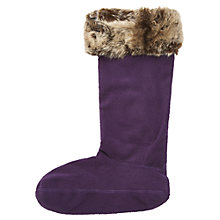 Buy Joules Frida Womens Fleece Welly Socks, Blueberry Online at johnlewis.com