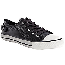 Buy Ash Virgo Embossed Buckle Leather Trainers, Black Online at johnlewis.com