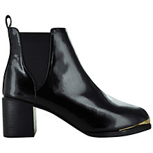 Buy Senso Valko Patent Block Heel Ankle Boots, Ebony Online at johnlewis.com