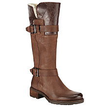 Buy John Lewis Cheadle Buckle Fastening Long Boots, Brown Nubuck Online at johnlewis.com