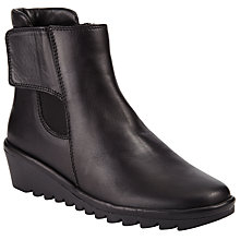 Buy John Lewis Designed for Comfort Petunia Suede Ankle Boots, Black Online at johnlewis.com