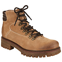 Buy John Lewis Peyton Suede Lace Up Ankle Boots, Brown Online at johnlewis.com