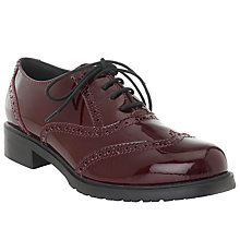 Buy John Lewis Designed for Comfort Secretary Patent Leather Brogues, Red Online at johnlewis.com