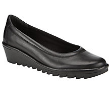 Buy John Lewis Designed for Comfort Heather Leather Wedge Pumps Online at johnlewis.com