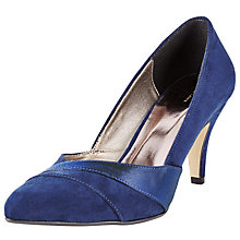Buy John Lewis Beaufort Suede Court Shoes, Navy Online at johnlewis.com