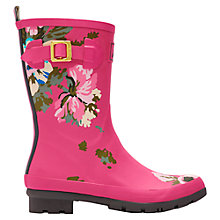 Buy Joules Mollywelly Rubber Wellington Boots, Pink Online at johnlewis.com
