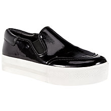 Buy Ash Jam Flatform Trainer, Black Leather Online at johnlewis.com