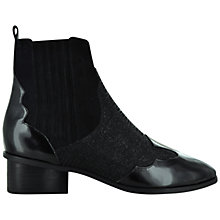Buy Senso Klara Patent Block Heel Ankle Boots, Ebony Online at johnlewis.com