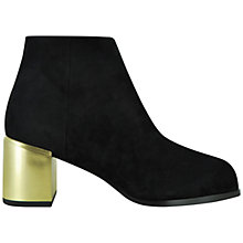 Buy Senso Vincent I Suede Block Heel Ankle Boots, Ebony Online at johnlewis.com
