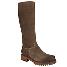 Buy John Lewis Talia Long Suede Knee High Boots, Brown Online at johnlewis.com
