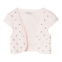 Buy Mango Kids Girls' Beaded Bolero Jacket, Pastel Pink Online at johnlewis.com