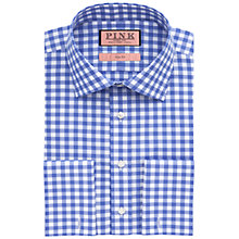 Buy Thomas Pink Coddenham Slim Fit Double Cuff Shirt, Blue/White Online at johnlewis.com