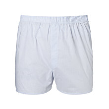 Buy Sunspel Oval Dot Woven Cotton Boxers, Blue Online at johnlewis.com