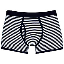 Buy Sunspel Low Waist Cotton Stripe Trunks Online at johnlewis.com