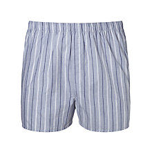 Buy Sunspel Multi Stripe Woven Cotton Boxers, Grey Online at johnlewis.com