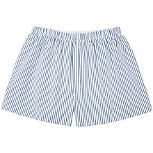 Buy Sunspel Wide Stripe Woven Cotton Boxers, White/Navy Online at johnlewis.com