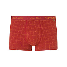 Buy Calvin Klein Underwear CK One Cotton Pattern/Plain Trunks, Pack of 2 Online at johnlewis.com