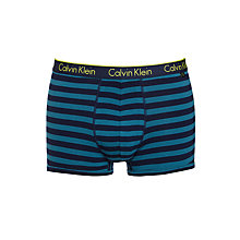 Buy Calvin Klein Underwear CK One Split Stripe Trunks, Blue Online at johnlewis.com