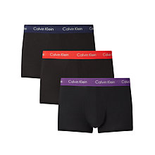 Buy Calvin Klein Underwear Contrast Waistband Trunks, Pack of 3 Online at johnlewis.com
