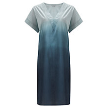 Buy Jigsaw Dip Dye V-neck Kaftan, Blue Online at johnlewis.com