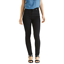 Buy Oasis Lily Skinny Jeans, Solid Black Online at johnlewis.com