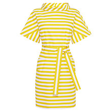 Buy Karen Millen Belted Stripe Dress, Yellow Multi Online at johnlewis.com