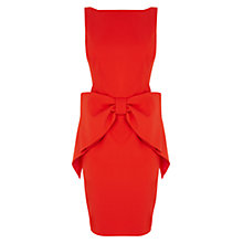 Buy Coast Glamour Bow Dress, Red Online at johnlewis.com