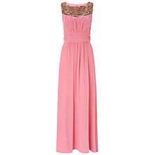 Buy Ariella Beau Chiffon Dress, Blush Online at johnlewis.com
