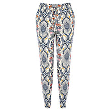 Buy Oasis Ornate Delft Print Trousers, Multi Online at johnlewis.com