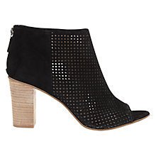 Buy Mint Velvet Jasmine Leather Caged Shoe Boots, Black Online at johnlewis.com