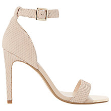 Buy Dune Maggi Reptile Effect Barely There Heeled Sandals, Natural Online at johnlewis.com