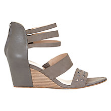 Buy Mint Velvet Aliya Wedge Heeled Sandals, Taupe Leather Online at johnlewis.com