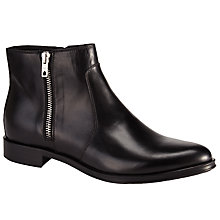Buy Kin by John Lewis Pella Leather Ankle Boots, Black Online at johnlewis.com