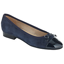 Buy John Lewis Ariel Quilted Suede Ballerina Pumps Online at johnlewis.com
