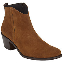 Buy John Lewis Poppy Suede Ankle Boots, Brown Online at johnlewis.com