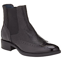 Buy Somerset by Alice Temperley Pilton Brogue Ankle Boots, Black Patent Leather Online at johnlewis.com