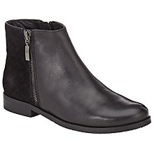 Buy John Lewis Olive Leather Quilted Ankle Boots, Black Online at johnlewis.com