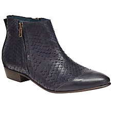 Buy Somerset by Alice Temperley Puxton Reptile Effect Ankle Boots, Navy Leather Online at johnlewis.com