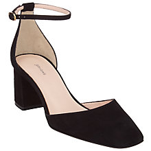 Buy John Lewis Adele Cut Away Block Heeled Courts Online at johnlewis.com
