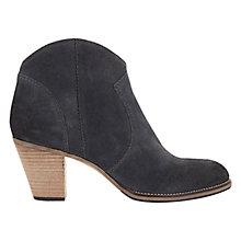 Buy Mint Velvet Eva Leather Ankle Boots, Grey Online at johnlewis.com
