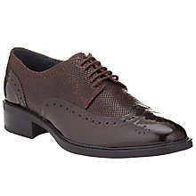 Buy Somerset by Alice Temperley Forton Patent Leather Brogues, Brown Online at johnlewis.com