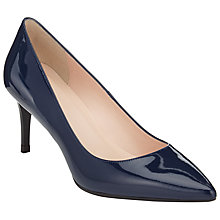 Buy John Lewis Ariana Toe Point Stiletto Court Shoes, Navy Patent Online at johnlewis.com