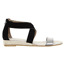 Buy Mint Velvet India Suede Espadrille Sandals, Black Online at johnlewis.com