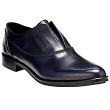 Buy Kin by John Lewis Fria Slip On Shoes, Navy Leather Online at johnlewis.com