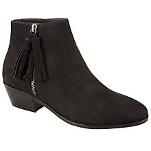 Buy John Lewis Olita Tassle Suede Ankle Boots, Black Online at johnlewis.com